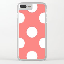 Pink polka Clear iPhone Case