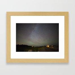 Airglow and the Milkyway at Pebble Beach Framed Art Print