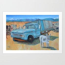 Burrow And 1960s Farm Truck Art Print