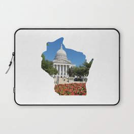Beautiful Capitol Building in Wisconsin Laptop Sleeve