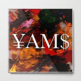Abstract Yams Metal Print
