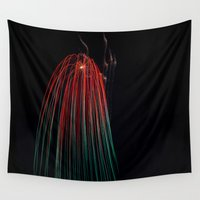 squid Wall Tapestries featuring Sky Squid by k-foto