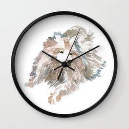 watercolor dog vol 14 samoyed Wall Clock