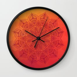 Sun Mandala Wall Clock
