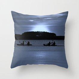 Moonlight Tandems Throw Pillow