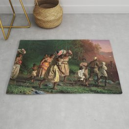 African American Masterpiece 'Emancipation or On to Liberty' by Theodor Kaufmann Rug