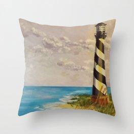 Cape Hatteras Lighthouse Throw Pillow