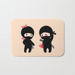 Tiny Ninja Boy and Girl Bath Mat