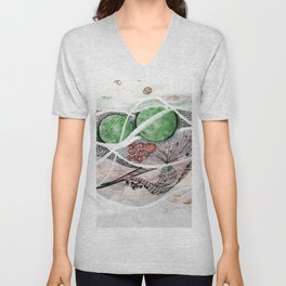 Space Planet Star Abstract Unisex V-Neck