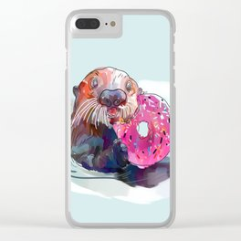Otter Donut Clear iPhone Case