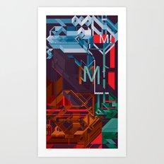 M! Art Print