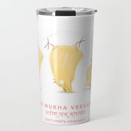 Adho Mukha Vrksasana Chicken Yoga Travel Mug