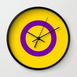 Intersex Pride Flag LGBTQ Wall Clock
