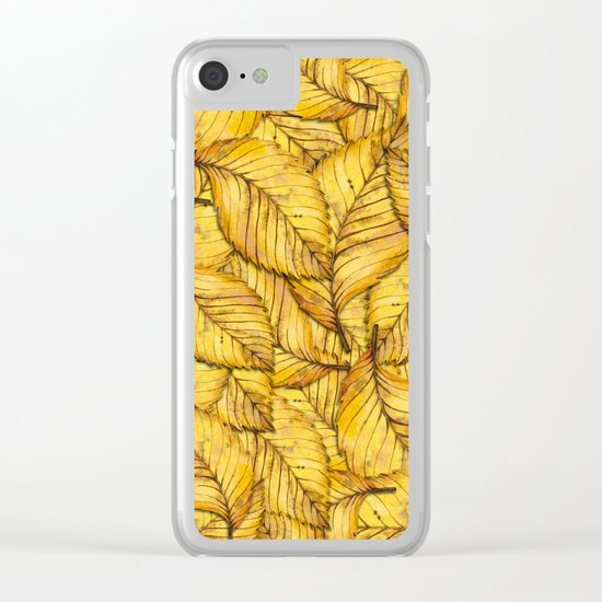 Autumn Leaves 02 Clear iPhone Case