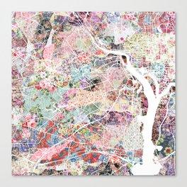 Arlington map Canvas Print