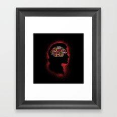 Sam's Phrenology Framed Art Print