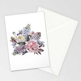Watercolor Bouquet Stationery Cards