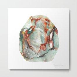 Jade Stone Metal Print