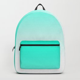 Modern bright simple mint green white color ombre gradient Backpack