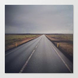 the road from iceland Canvas Print
