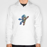 mega man Hoodies featuring Mega Man Jumping by jaimito