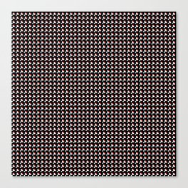 White and red on black pattern Canvas Print