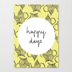 Happiest of Days Canvas Print