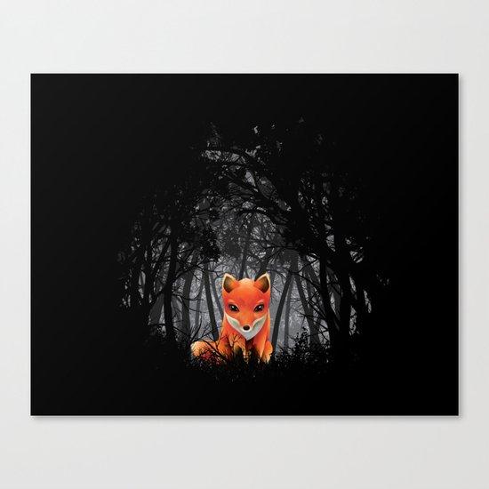Vulpes Vulpes  at  Night Canvas Print