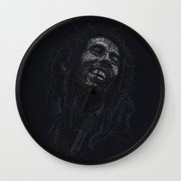 Tuff Gong Marley Text Art Wall Clock