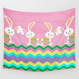 Easter Chevron Pattern Wall Tapestry