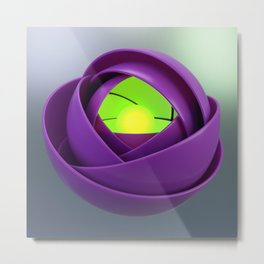 Lemurian rose Metal Print
