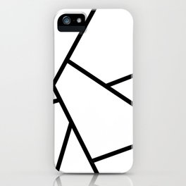 Black and White Fragments - Geometric Design I iPhone Case