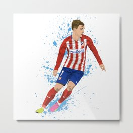 Antoine Griezmann - Atlético Madrid Metal Print