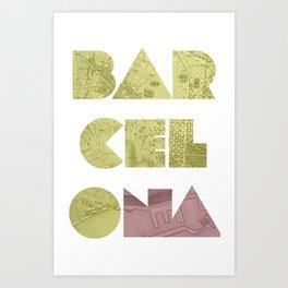 BARCELONA (Blok Series) Art Print
