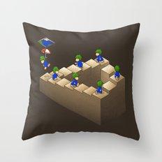 Lem C. Escher (brown variant) Throw Pillow