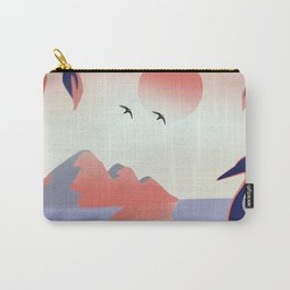 Flamingo on sunset view Carry-All Pouch