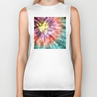 tie dye Biker Tanks featuring Color Filled Tie Dye by Phil Perkins