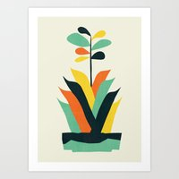 Exotic geometric plant Art Print