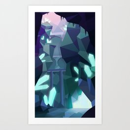 Crystal Caverns Art Print