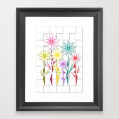 Origami  Flowers Framed Art Print