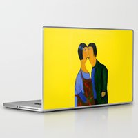 couple Laptop & iPad Skins featuring couple by agnes Trachet