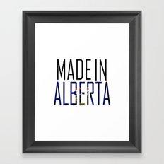 Made in Alberta Framed Art Print