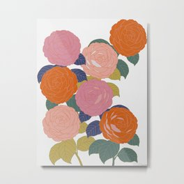 Flowers In Full Bloom Metal Print
