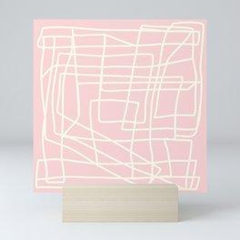Lost Lines in Pink Mini Art Print