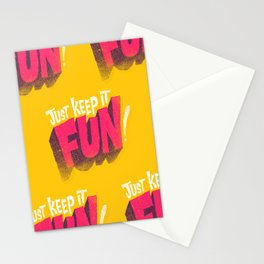 Just Keep it Fun Stationery Cards