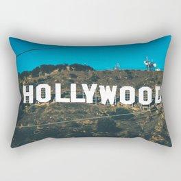 The Hollywood Sign Rectangular Pillow
