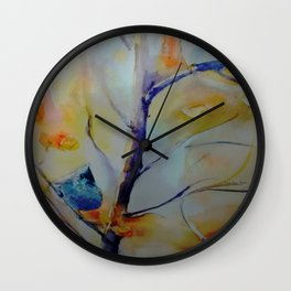 Unique Perspective Birdlife watercolor by CheyAnne Sexton Wall Clock