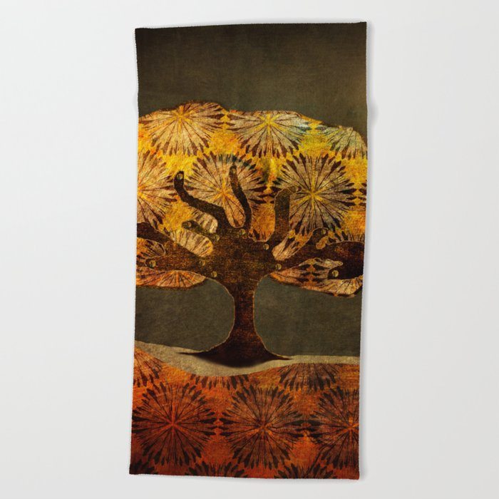 Midnight Flight Beach Towel