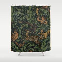 Jagtapete Wallpaper Design Shower Curtain