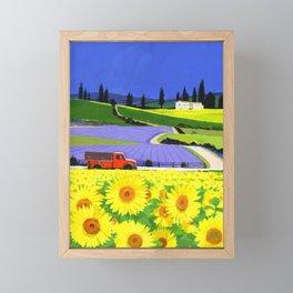 sun flower Framed Mini Art Print